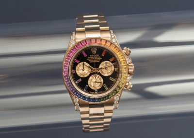 "Rolex Daytona ""Rainbow"" in everosegold"